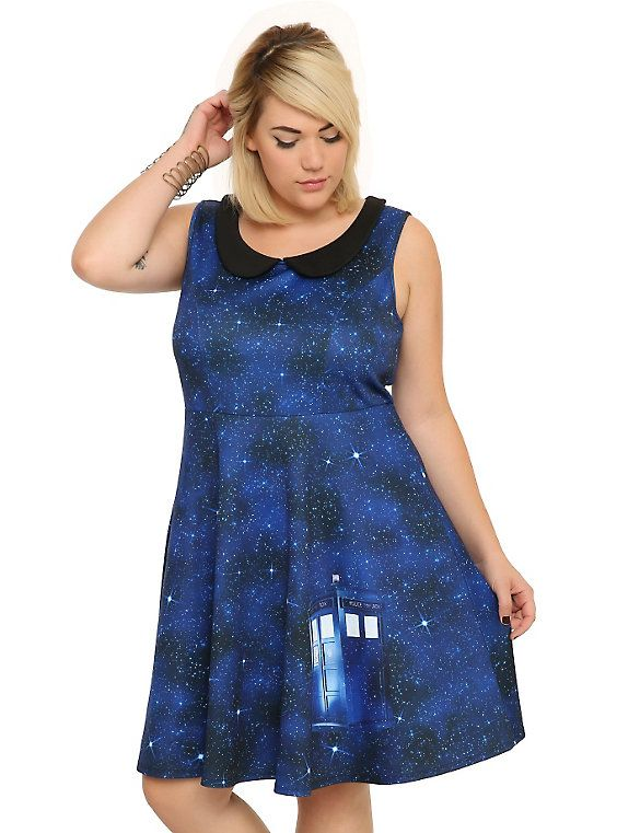 Doctor Who Galaxy Dress Plus Size | Doctor who outfits, Plus ...