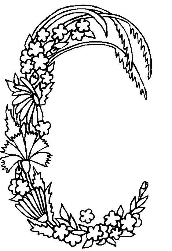 Alphabet Flower C Coloring Pages