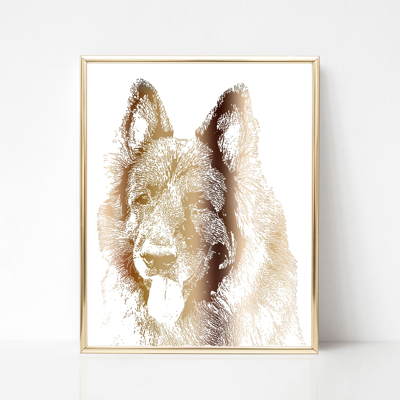 ab96f34d6818 Custom pet print - Animal portrait print - Custom painting of pet - Custom  portrait from photo - Custom pet illustration - Foil art print.