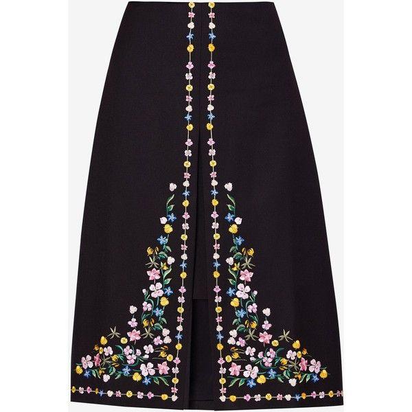 c67d6b0ef0fdd Ted Baker Vicks Hampton Print A Line Skirt (69.130 HUF) ❤ liked on Polyvore  featuring skirts, women skirts, patterned midi skirt, floral print skirt,  ...