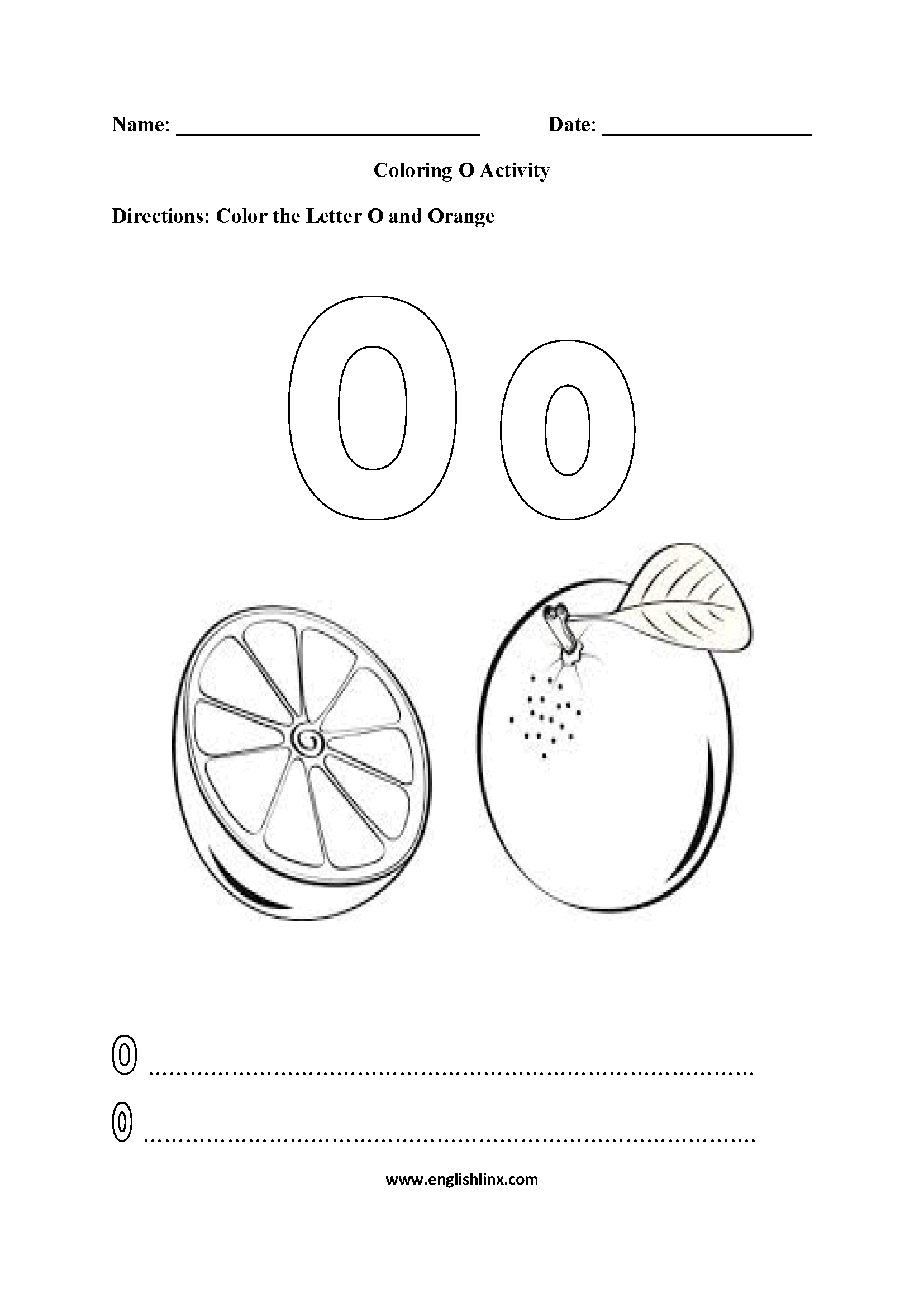 Letter O Worksheets Letteroworksheets