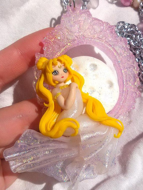 sailor moon princess serenity jewelry necklace pendant available on my etsy shop https://www.etsy.com/it/listing/521315445/necklace-serenity-sailormoon-princess