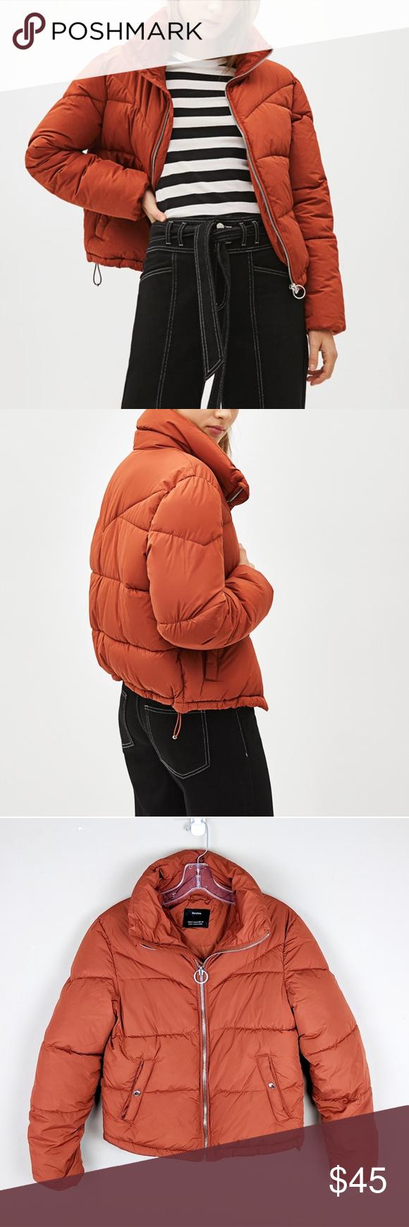 Bershka Orange Cropped Puffer Coat B24 Puffer Coat Puffer Bershka Jacket [ 1740 x 580 Pixel ]