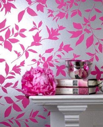 Midsummer Pink Floral Wallpaper