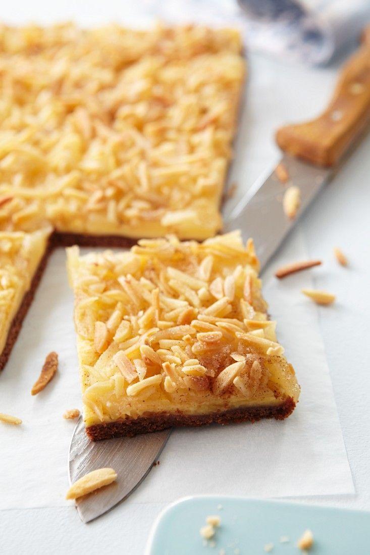 Birnenkuchen Mit Pudding Und Mandeln Rezept Mit Bildern Kuchen Birnen Kuchen Kochen Und Backen