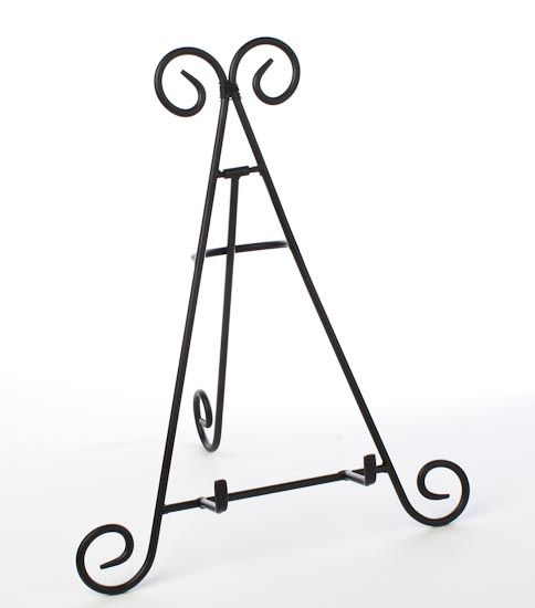 Black Wrought Iron Display Easel
