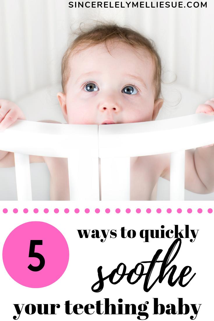 Soothe Your Teething Baby Baby Teeth Baby Teething Symptoms Soothing Baby