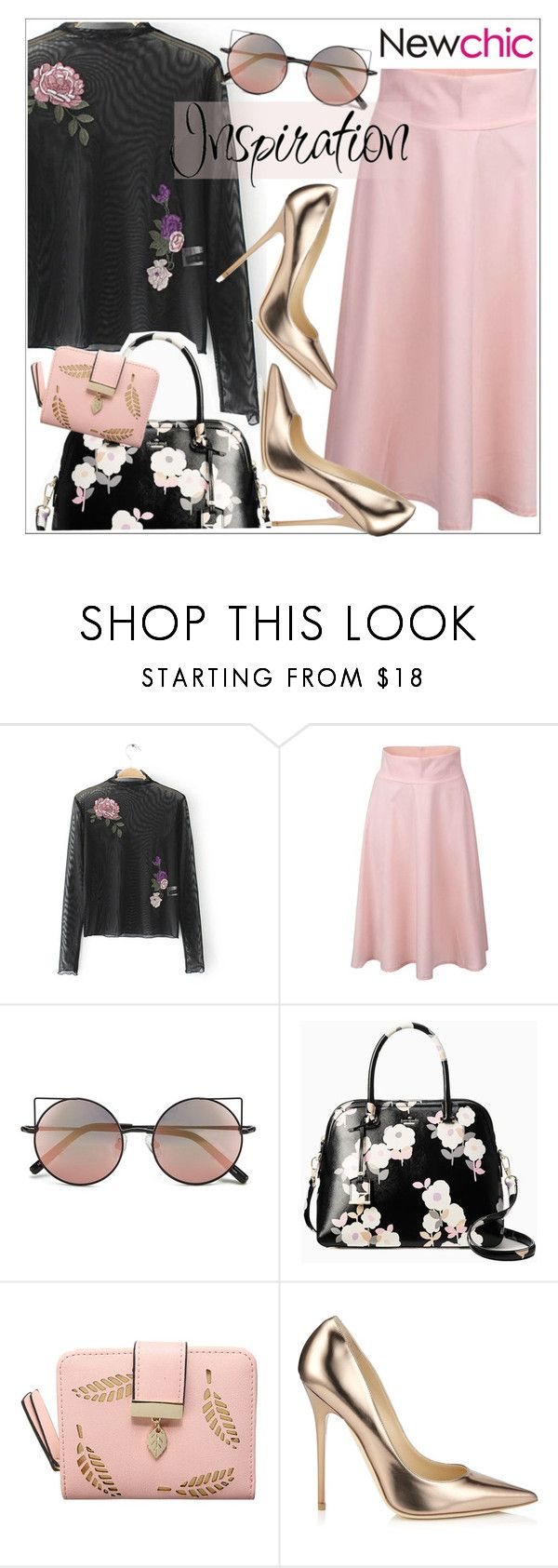 """""""Newchic"""" by teoecar ❤ liked on Polyvore featuring Linda Farrow, Kate Spade and Jimmy Choo"""