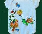 Turtle and Friends Handpainted Infant Bodysuit by deborahwillarddesign on Etsy, $18.00 USD