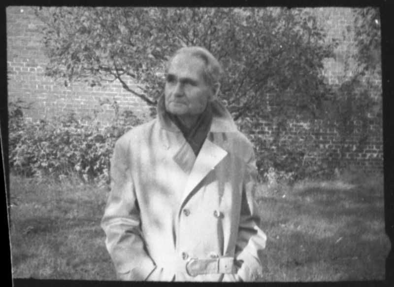 Close Up Photographs Of Rudolf Hess In The Garden Of Spandau
