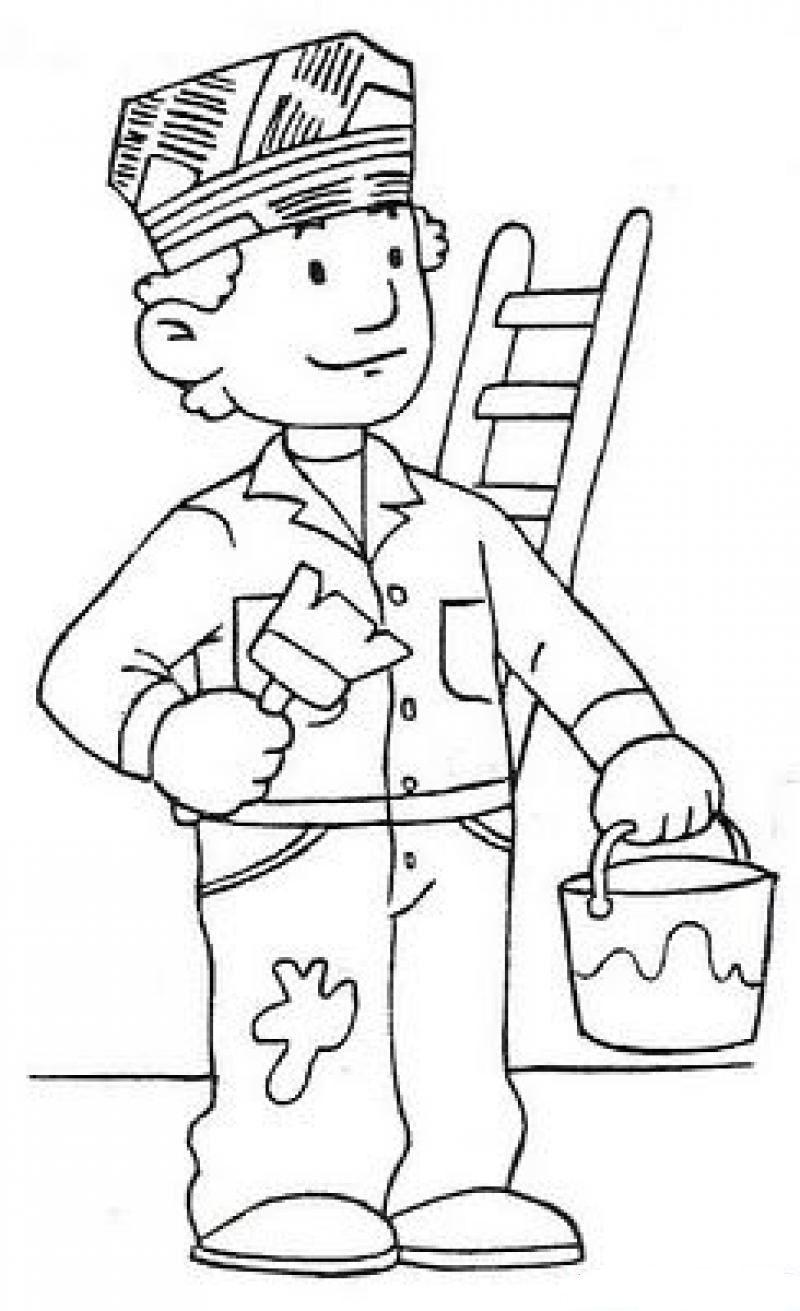 meslekler school Coloring pages for kids, Art drawings