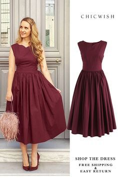eddc2700da6a7 Up to 30% Off. Classic Glamour Sleeveless Midi Dress in Wine featured by  barefoot duchess