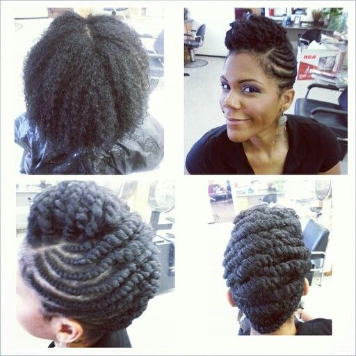 Flat Twist Updo Natural Hair Style Hair Styles Natural Hair Styles Natural Hair Updo