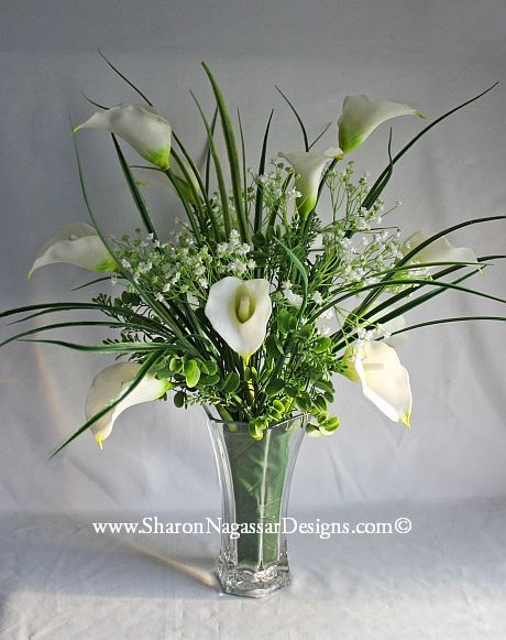 Calla Lily Centerpiece Real Touch Silk Flowers Wedding Table Centerpieces Altar Arbor