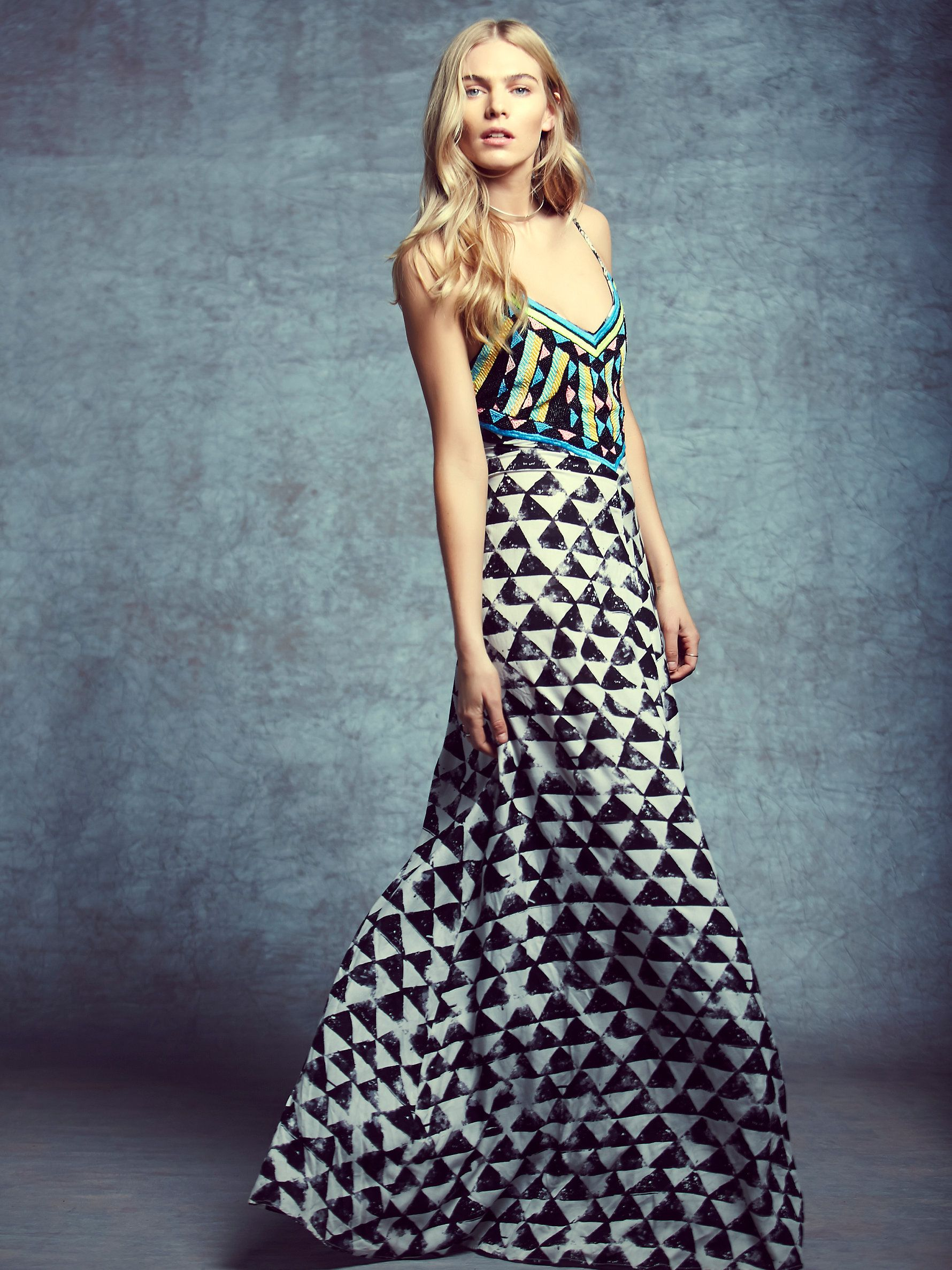 8d44987b6980d Mara Hoffman Beaded Maxi at Free People Clothing Boutique | Mode ...