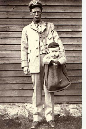 Mail babies about 1913 or 1914
