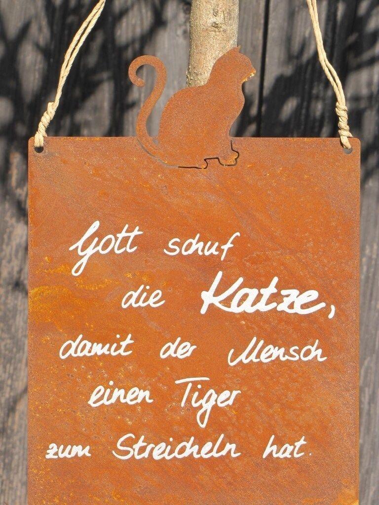 Edelrost Gartenschild Momente Spruchschild Wandtafel Metallschild Gartendeko