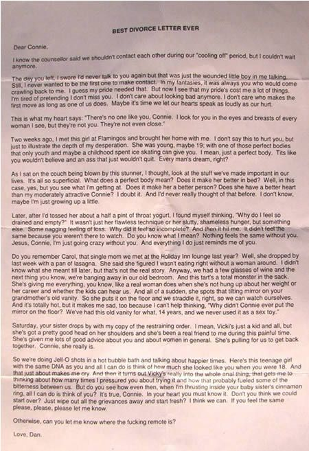 10 Hilarious Notes and Letters Funny stuff, Funny shit and So funny - divorce letter template