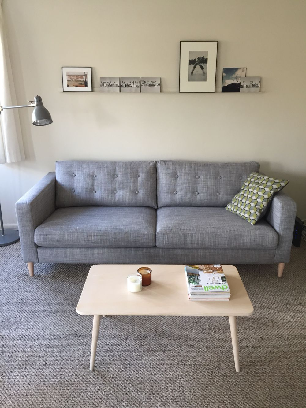 Ikea Karlstad Sofa Hack Legs Changed Tufting Los Angeles Flat