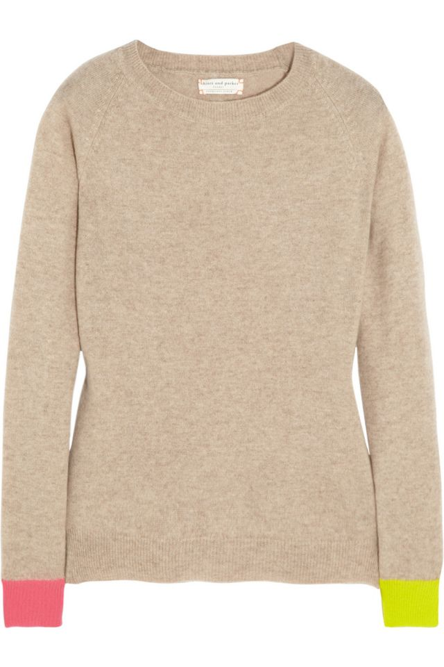 I discovered this Chinti and Parker | Contrast-cuff cashmere sweater | NET-A-PORTER.COM on Keep. View it now.