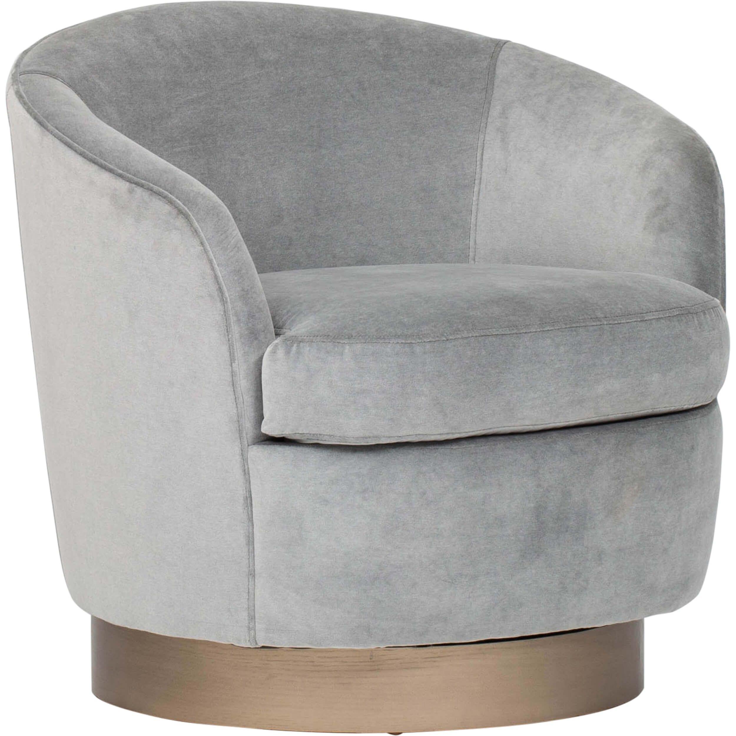 Claudia Swivel Chair Lulu Slate Swivel Chair High Fashion Home