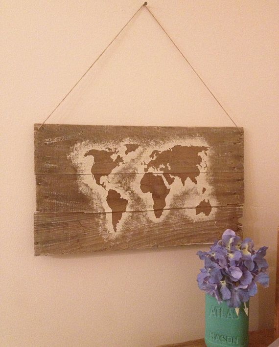 Wooden world map graffiti art reclaimed wood world map map decor wooden world map graffiti art reclaimed wood by alchemyhomedecor gumiabroncs Choice Image