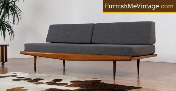mid century modern pearsall style daybed sofa - Daybed Sofa