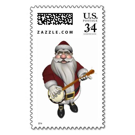 Santa Claus Playing Banjo
