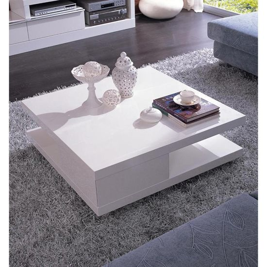 Verona Extendable High Gloss Coffee Table In White 21025: Modrest 5114C - Modern Coffee Table