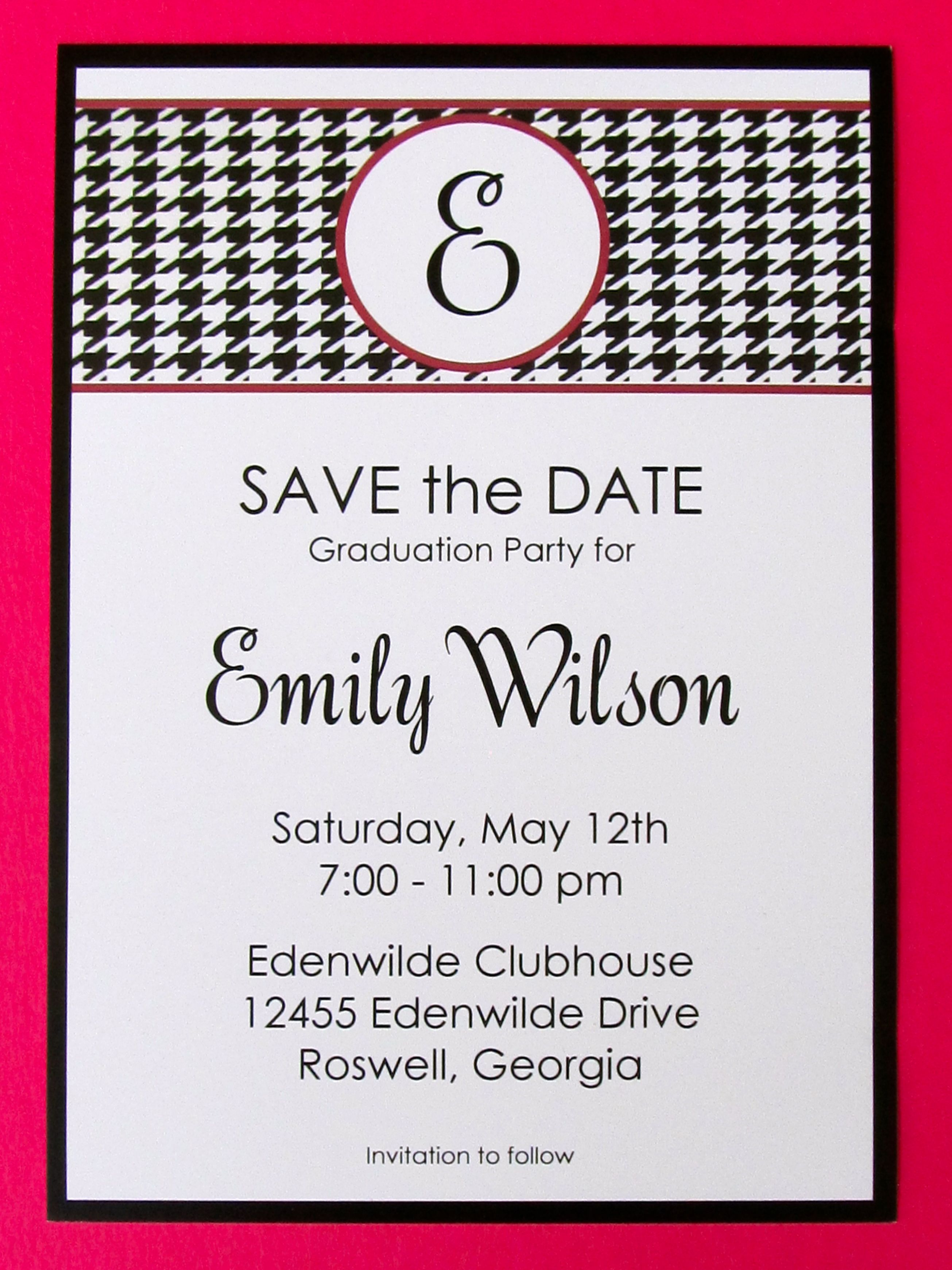 graduation party alabama theme save the dates pinterest