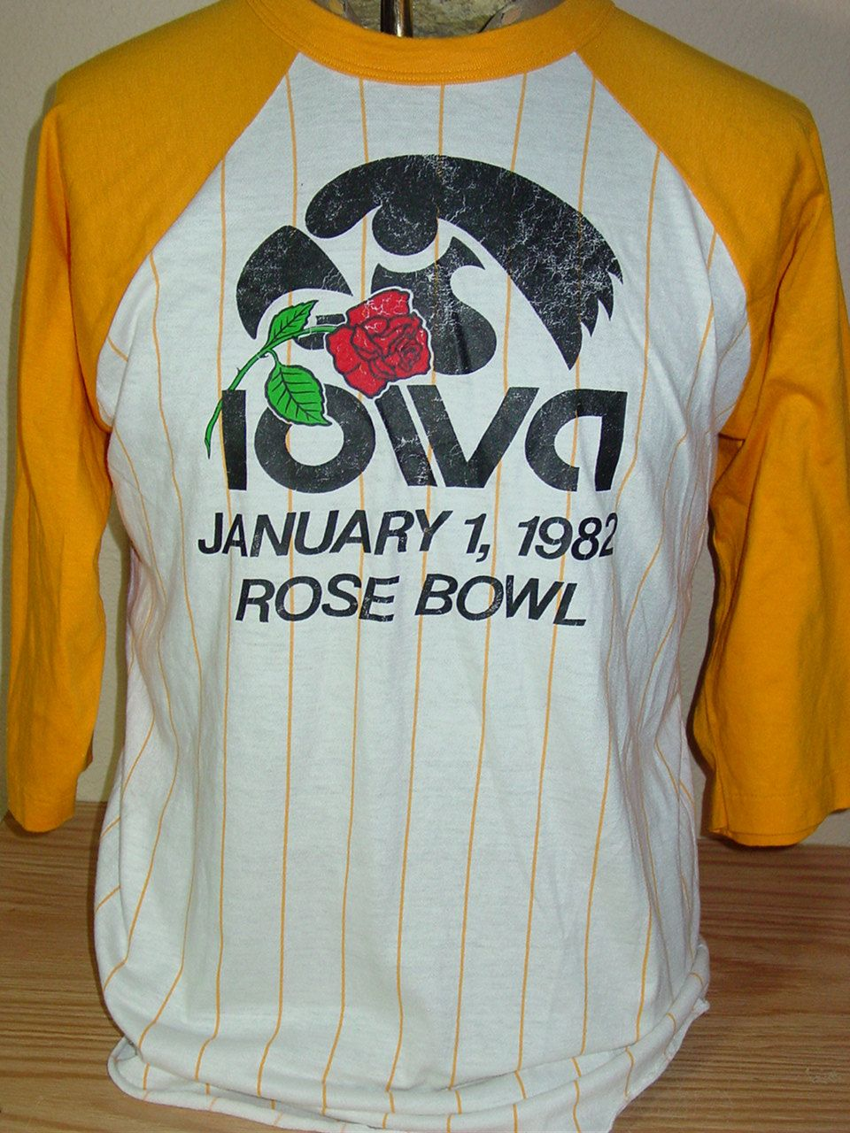 fc6586eb660 vintage 1982 Iowa Hawkeyes Rose Bowl football raglan jersey t shirt XL by  vintagerhino247 on Etsy