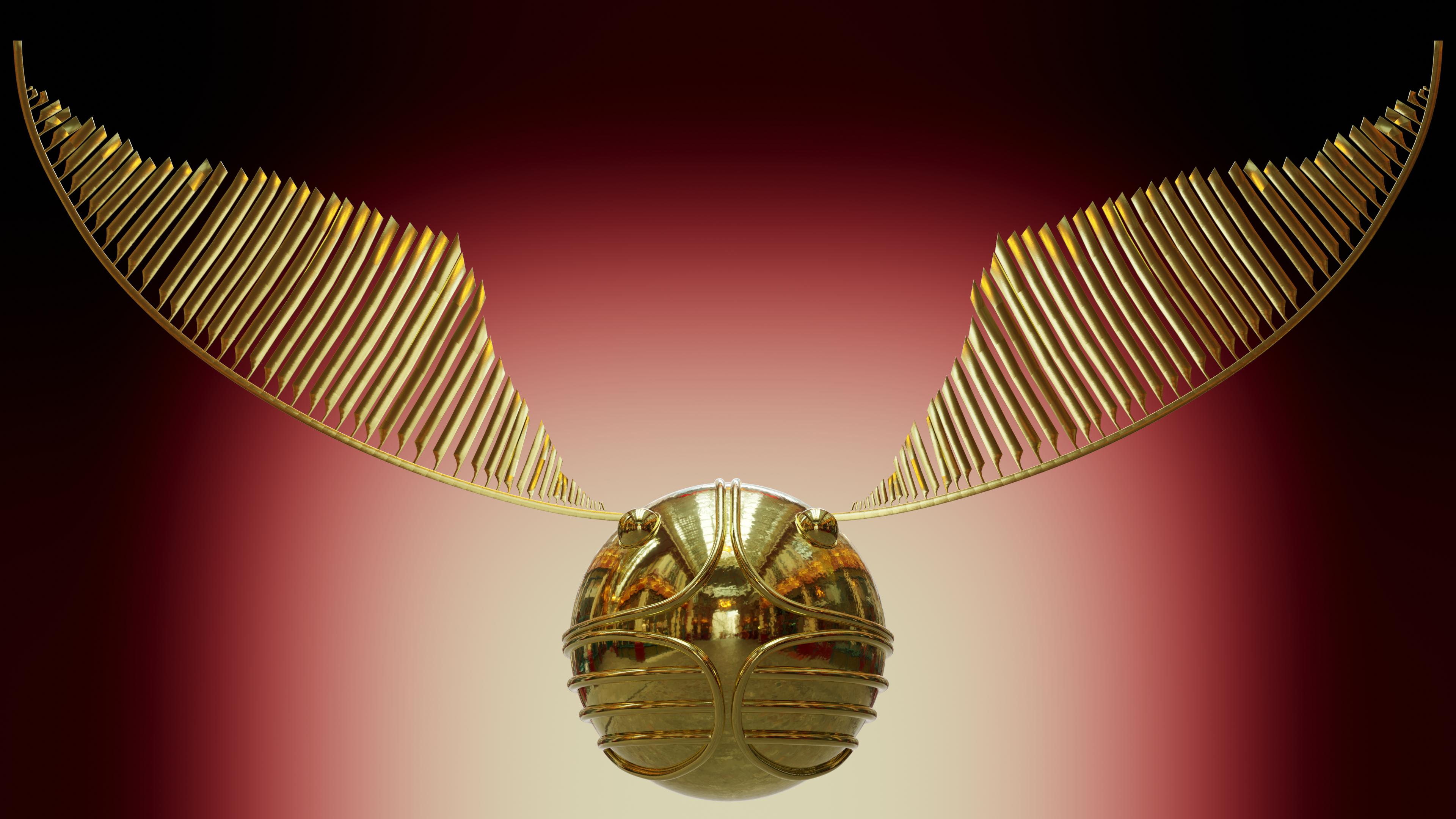 The Golden Snitch Golden Snitch Blender Models Golden