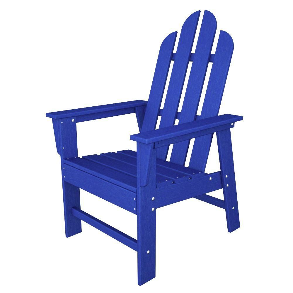 Miraculous Polywood Long Island Pacific Blue All Weather Plastic Onthecornerstone Fun Painted Chair Ideas Images Onthecornerstoneorg