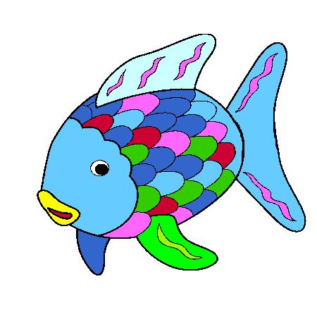 Coloriage poisson rigolo a imprimer poissons sous l 39 eau - Poisson dessin couleur ...