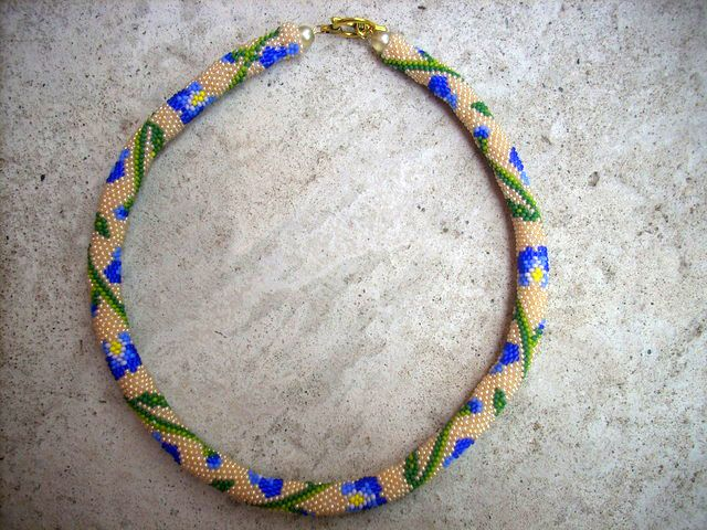 Free Pattern For Beaded Crochet Rope Iris By Flypetra Jewelry