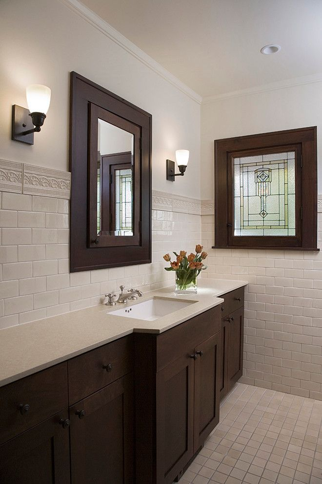 Bathroom stained glass windows bathroom victorian with white ...