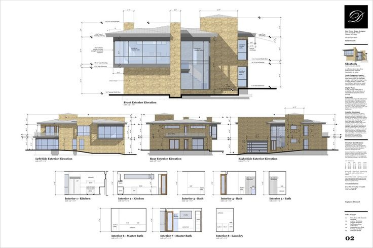 Rendered sections examples of cad plans and sections for Architectural design with sketchup