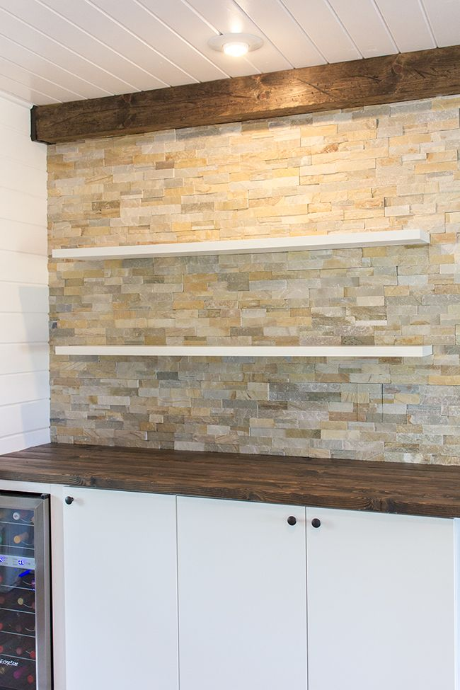 This Is My FAVORITE Home DIY Site Right Now. Kitchen Chronicles: Stacked  Stone Bar
