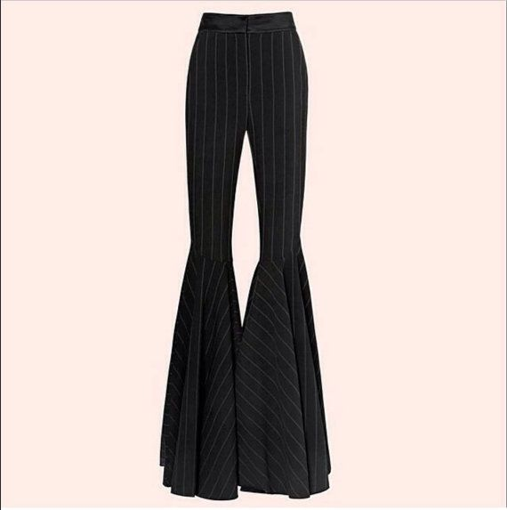 Women's blended wool fabric Vintage Big Flare,Wide Leg Long Trousers, Bell Bottoms Pants Vintage 70s fashion