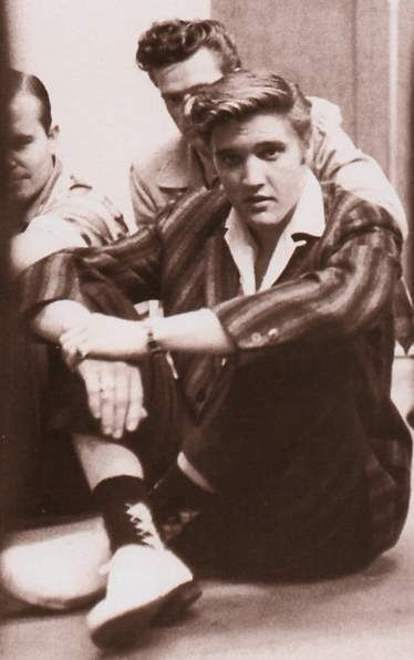 Elvis at the R.C.A studio for a recording session in july 2 1956 where he recorded that day , Hound dog and Don't be cruel.