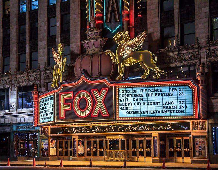 Historic Fox Theatre In Detroit Michigan By Peter Ciro Visit Detroit Michigan Detroit