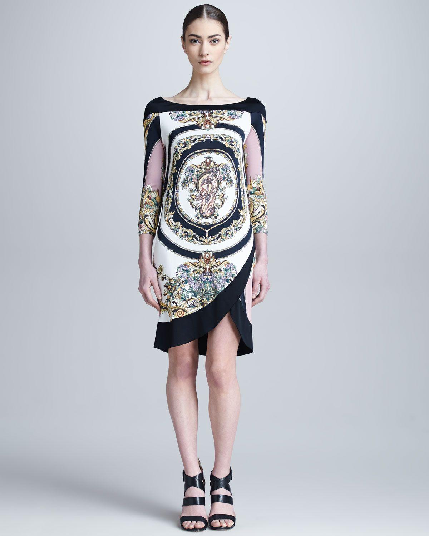 373e37487ba Versace Collection Medusa Printed Tulip-Hem Dress - Neiman Marcus WOW!