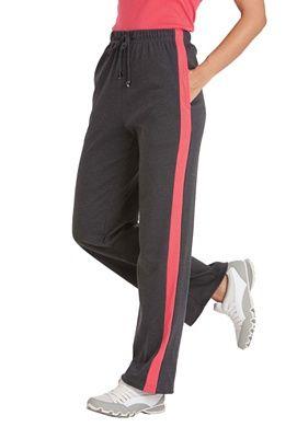 dae62d83b4d Side stripe sport knit pants - plus size