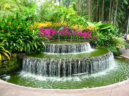 beautiful flower garden with fountain Google Search My Dream