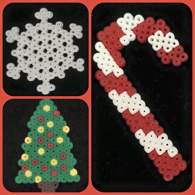 Perler Bead Hanging Christmas Decorations by bead.boutique.xx