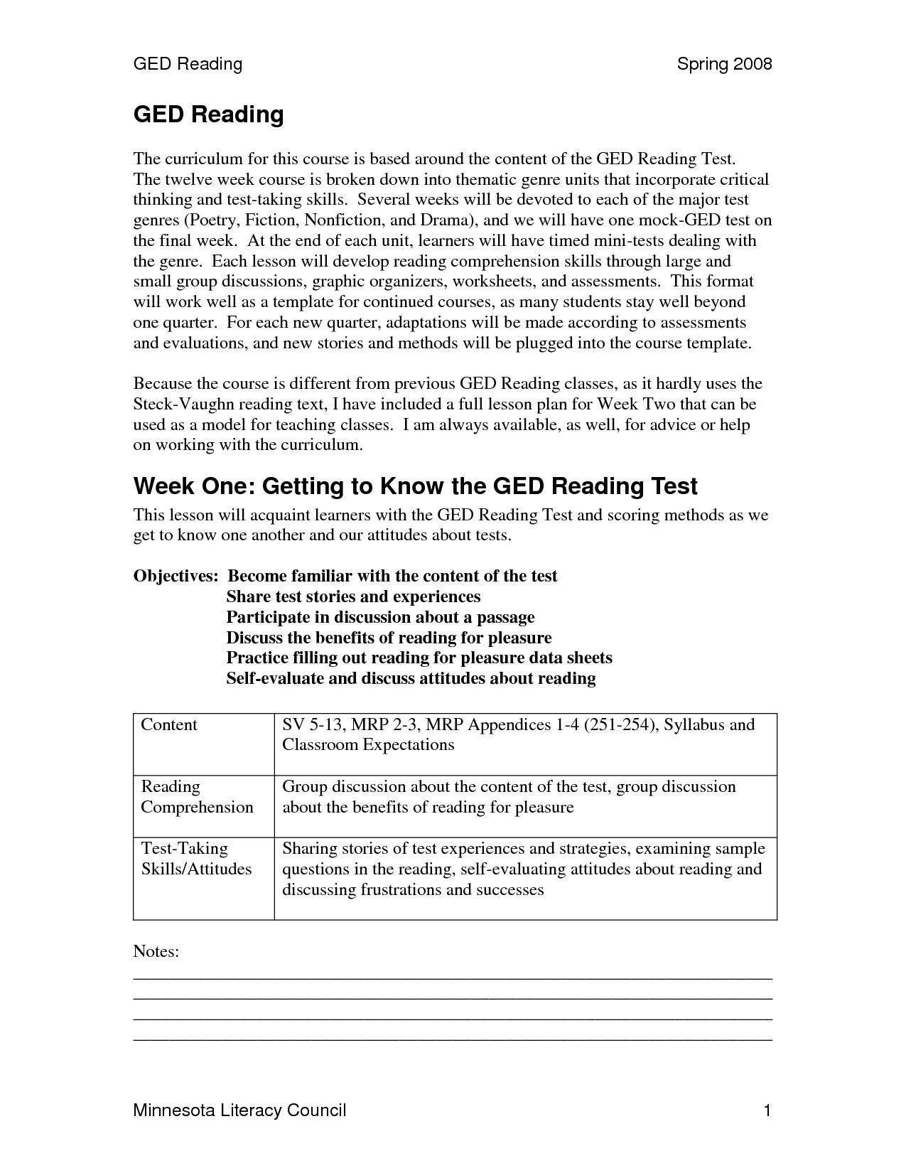 Printable Math Worksheets For Ged Practice In With