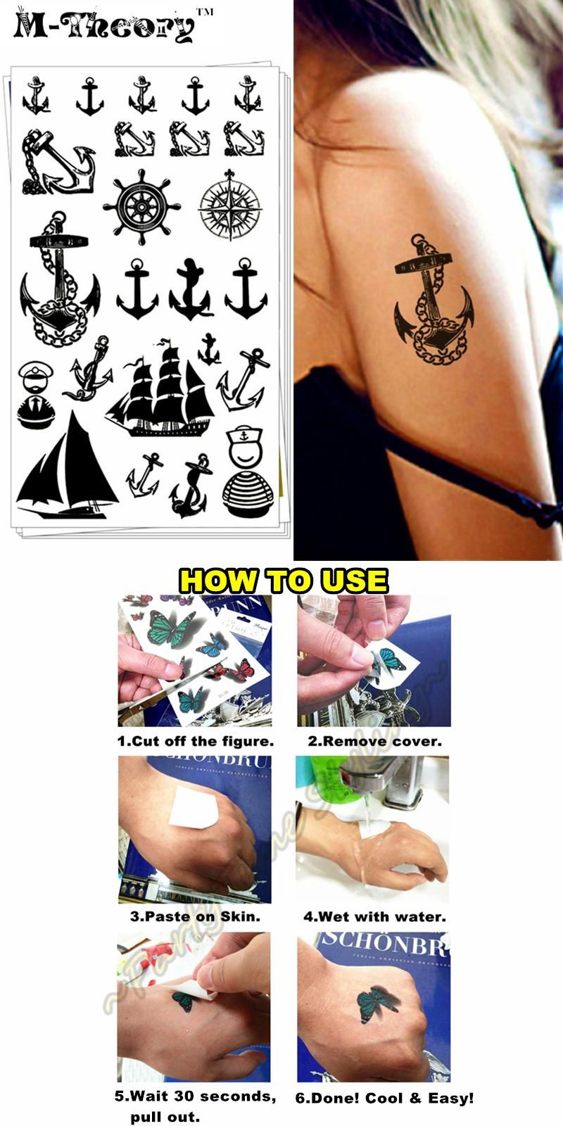 fa25e96505568 [Visit to Buy] M-theory Sexy Makeup Temporary 3d Tattoos Sticker Marine  Pirate Flash Tattoo Stickers Henna Tatto Swimsuit Makeup Tools  #Advertisement