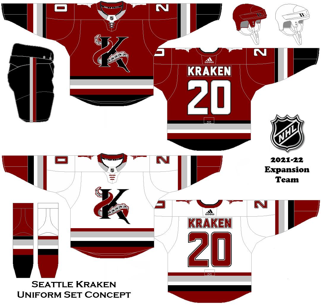 e041de91e40 2021-22 Expansion Team Concept - Seattle Kraken Uniform Set ...