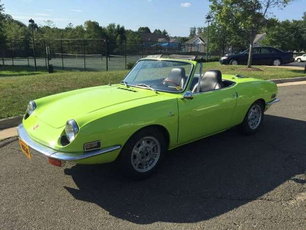 Miura Lime Resto 1971 Fiat 850 Spider With Images Fiat 850