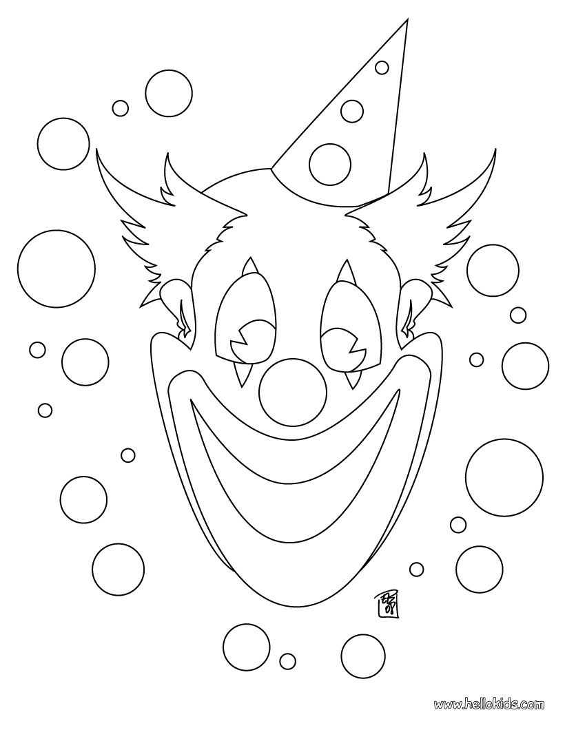 Happy clown coloring page | Owen and Kerrigan\'s first birthday ...